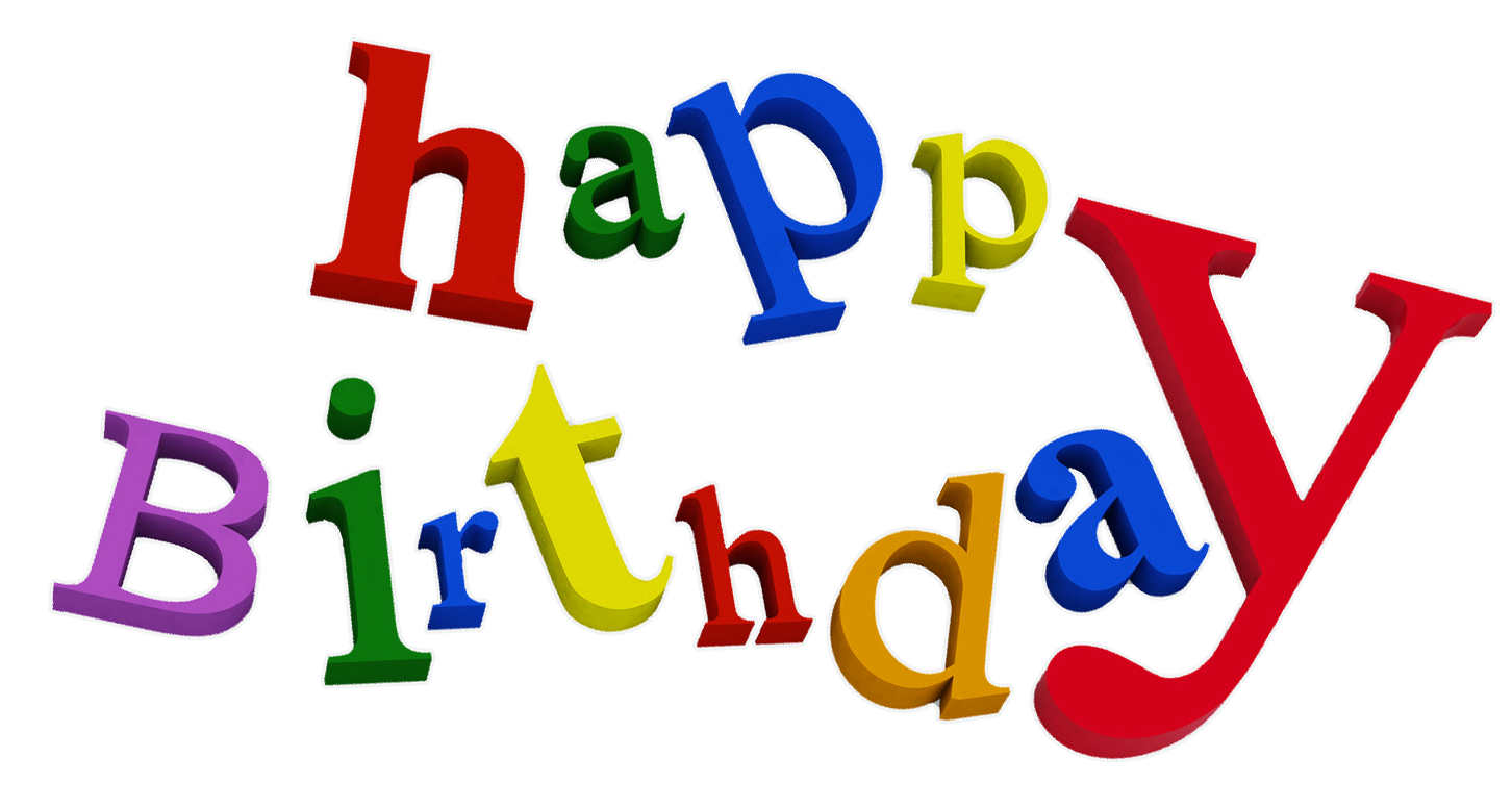 Happy Birthday Transparent PNG Clipart